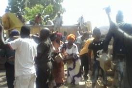 Société-Dabola: La façade de la place publique déguerpie par l'Association des jeunes volontaires pour le Développement