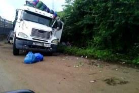 Circulation bloquée sur l'axe Coyah-Kindia après l'accident d'un camion